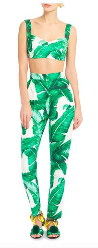 palm leaf outfit dolce & gabbana